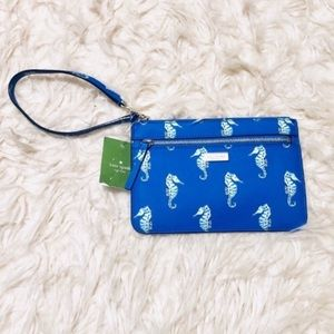 Kate Spade Seaponies Liberty Clutch NEW